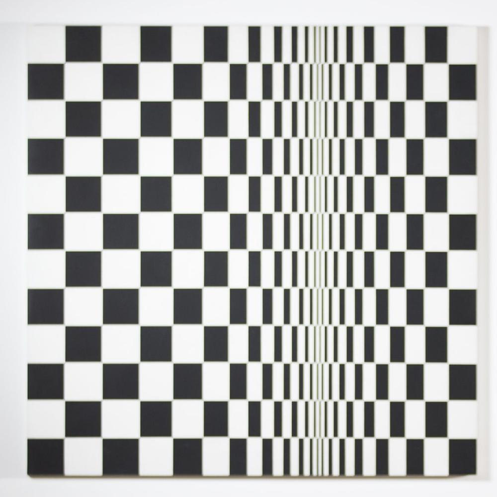 Movement in Squares by Bridget Riley.