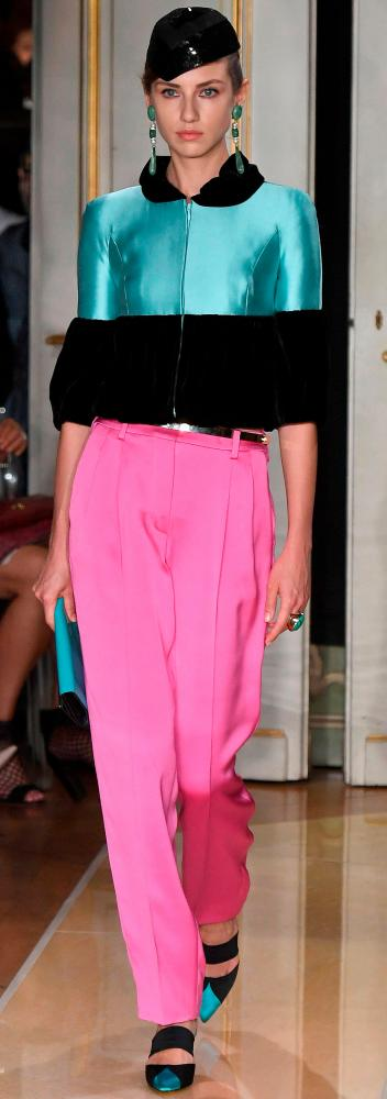 Bright colour pops were the order of the day on the catwalk.
