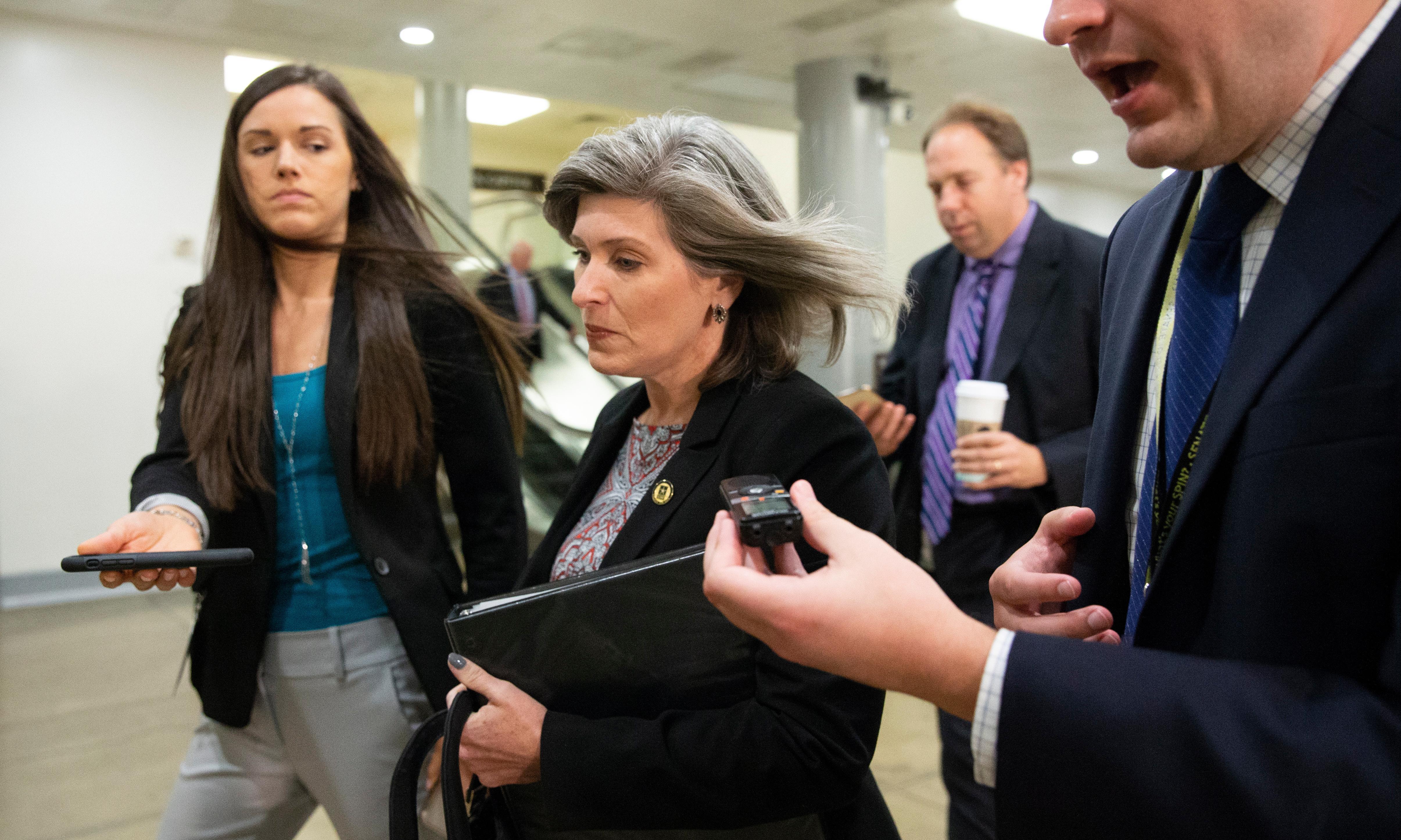 Iowa senator Joni Ernst put on the spot by impeachment process