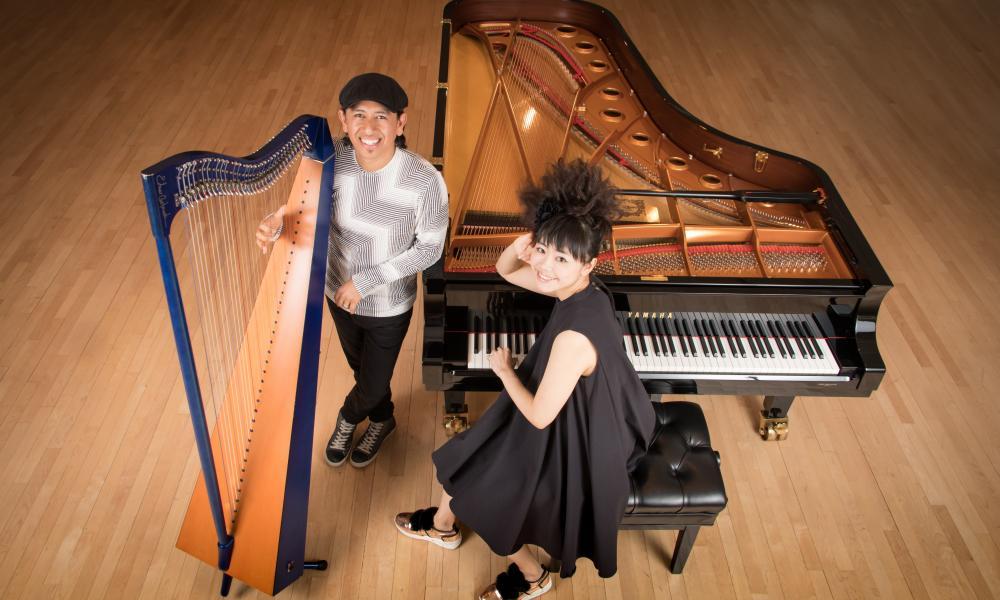 Dramatic and swinging … Hiromi and Edmar Castañeda.