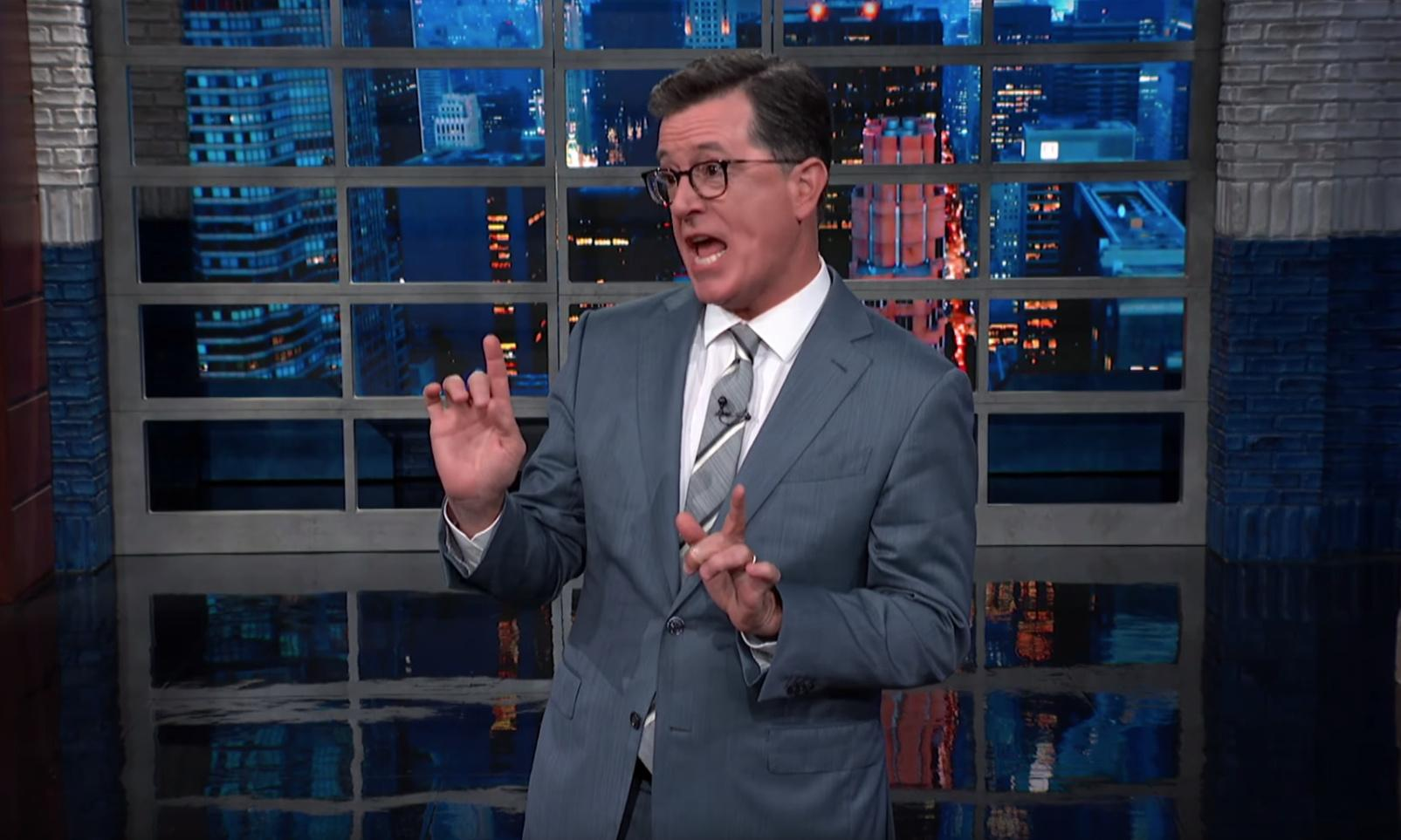 Stephen Colbert on Trump: 'Our horror only makes him stronger'