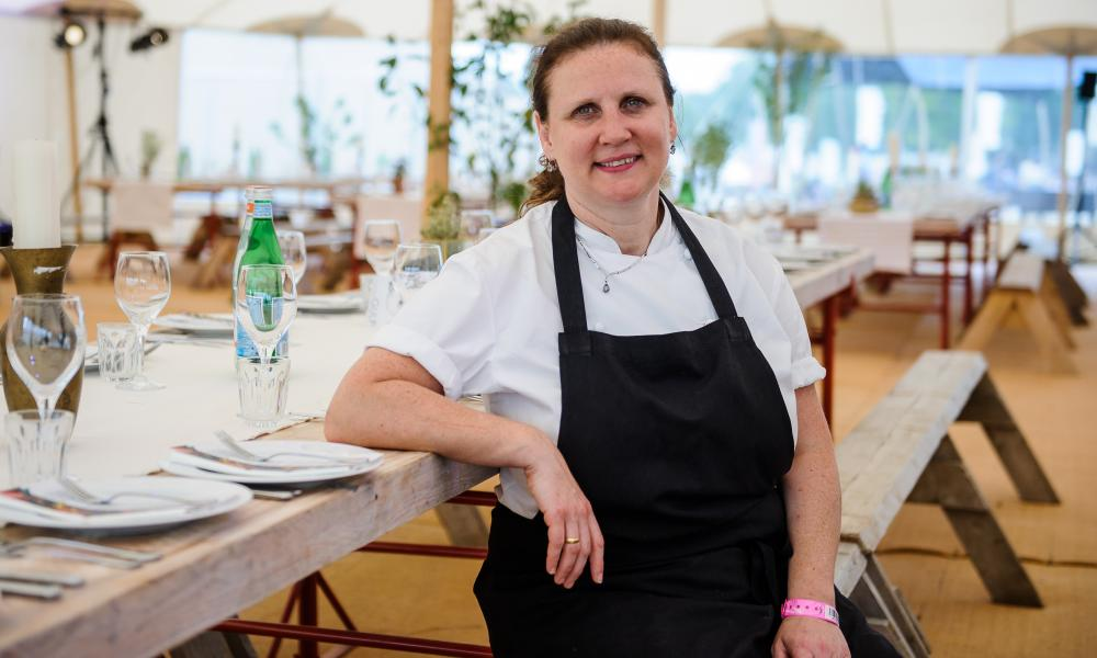 Angela Hartnett has learned to stop and take five minutes when things go wrong in the kitchen.
