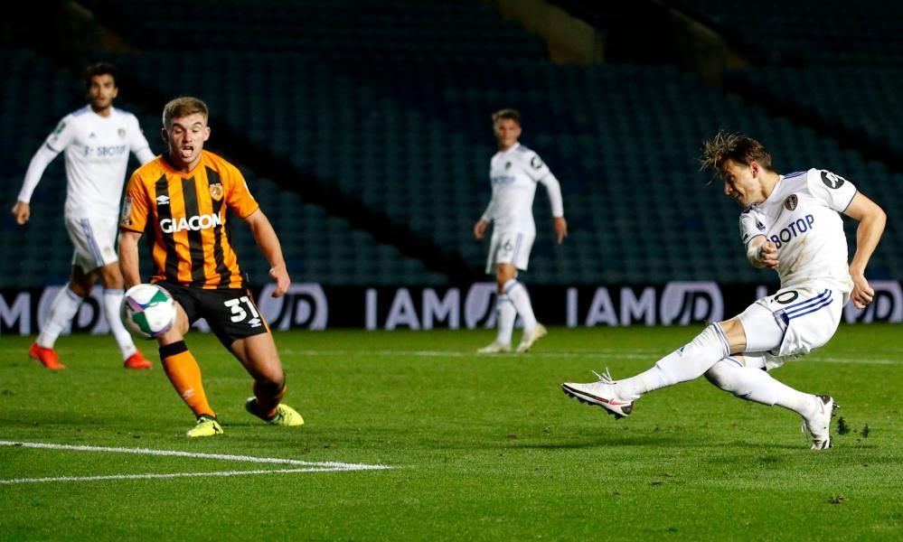 Ezgjan Alioski fires home Leeds' late late equaliser.