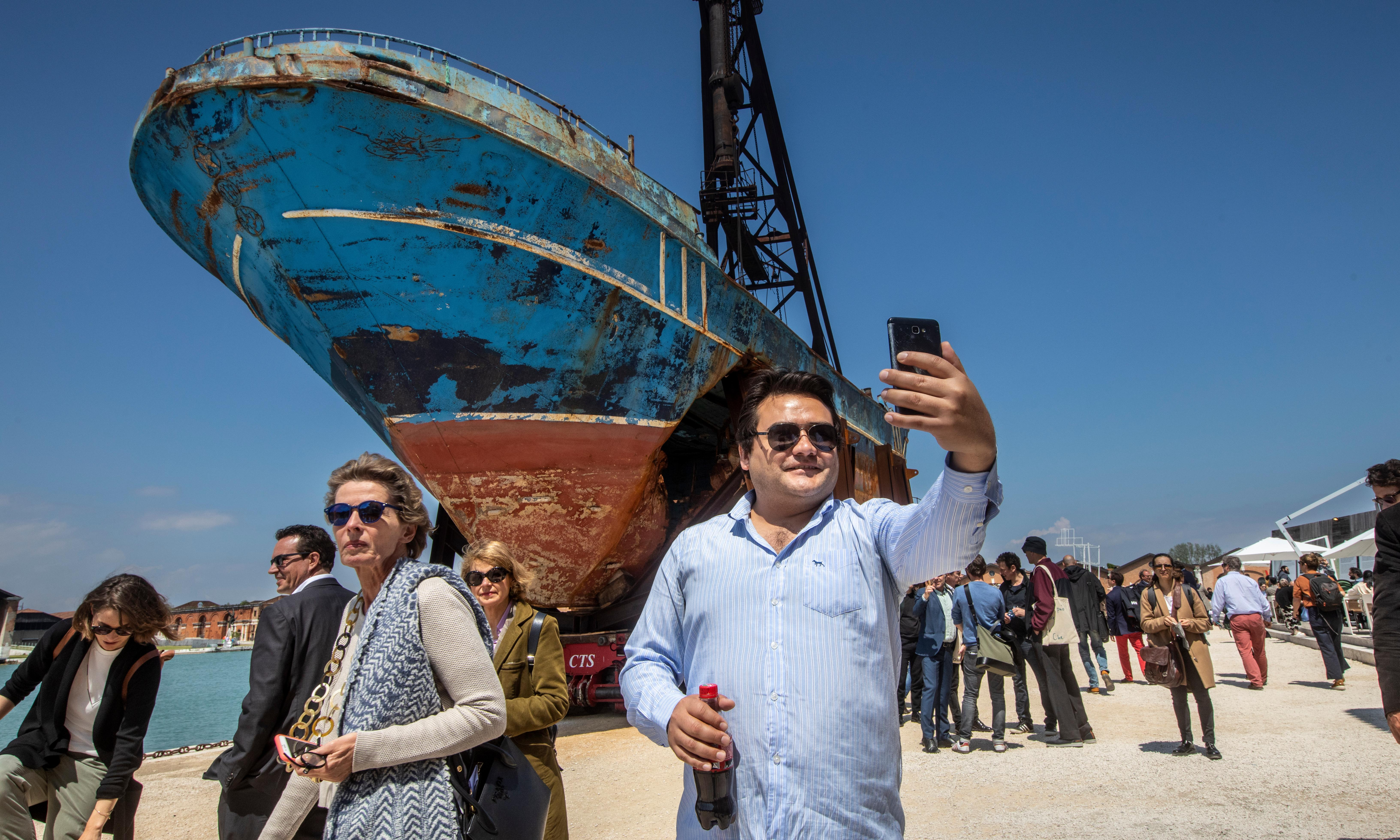 The Guardian view on the Venice Biennale's migrant boat: pushing the limits of art