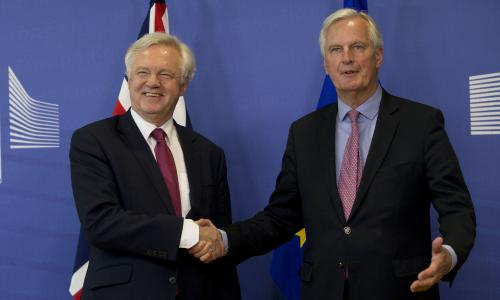 Image result for UK caves in to EU demand to agree divorce bill before trade talks