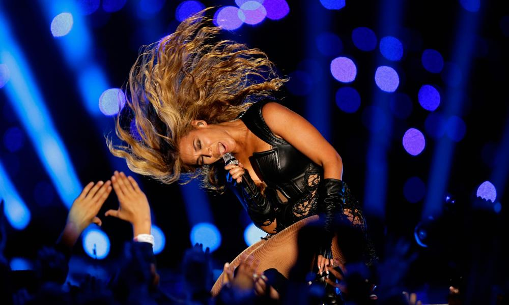 'An explicit rejection of her role model status' ... Beyoncé performs at the Super Bowl, 3 February 2013.