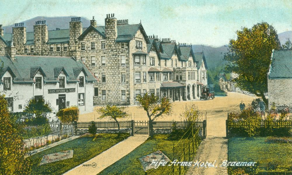 """Fife Arms PC18 Valentine's. Posted 17 July 1920. Hotel only releasing this image of the hotel to press. """"As the construction is still ongoing, we don't have any specific images of the hotel finished at this point. """""""
