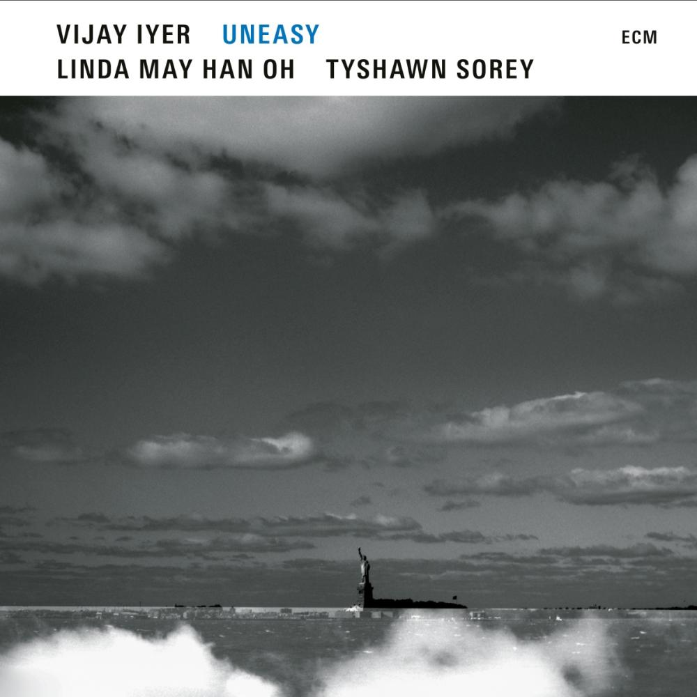 Vijay Iyer, Linda May Han Oh, Tyshawn Sorey: Uneasy album cover