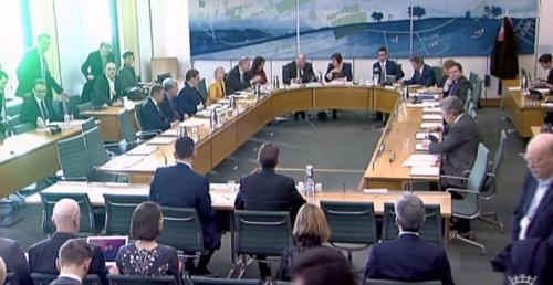 The public accounts committee this morning