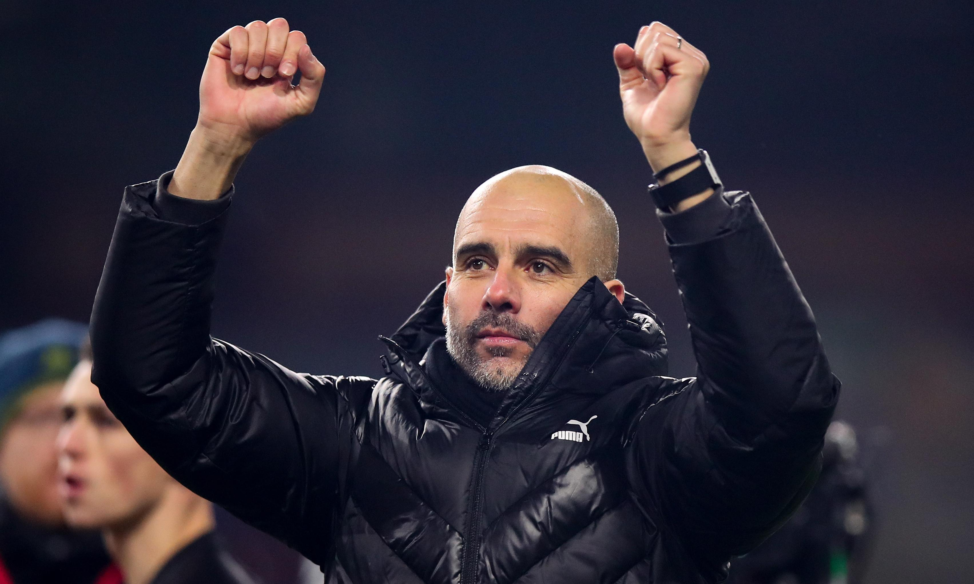 Pep Guardiola says Manchester City would be 'crazy' to think about the title