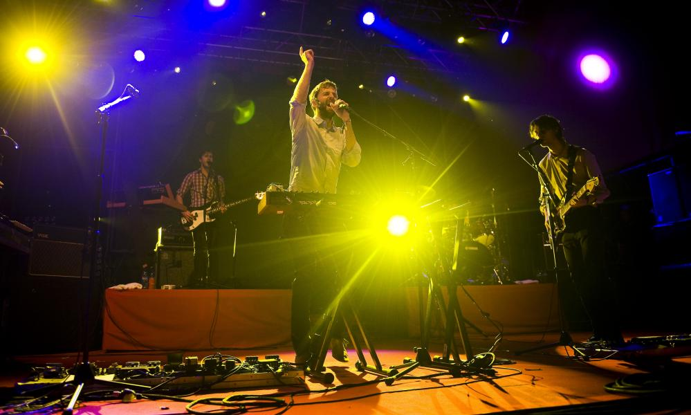 Dan Whitford and the rest of Cut Copy at Barcelona's Sonar 2011 festival