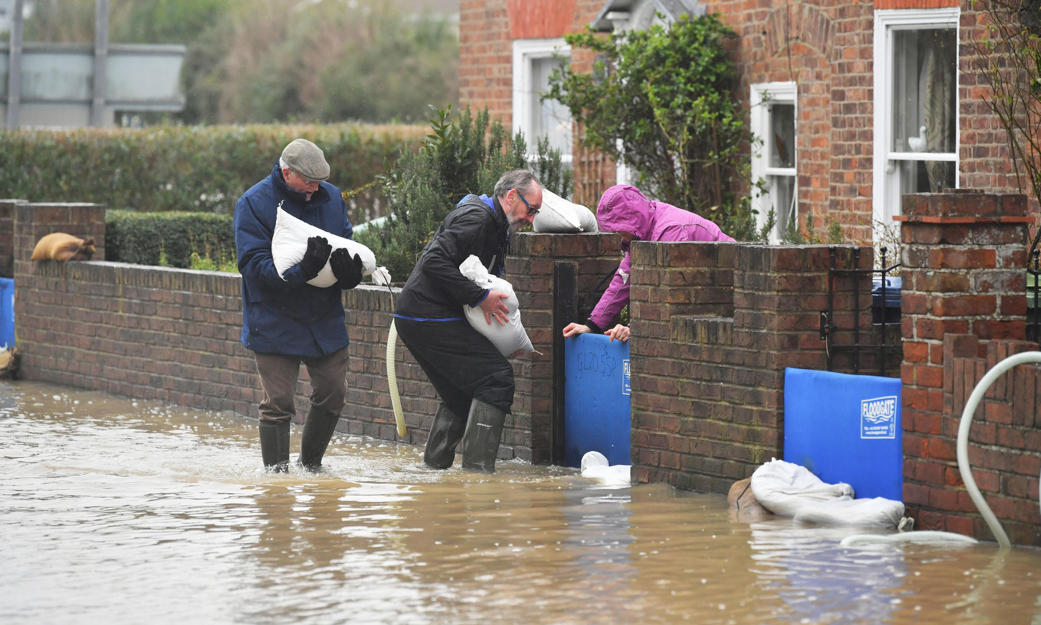 UK weather warning of further rain for areas already hit by flooding