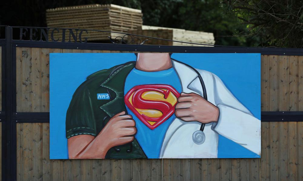 A mural in tribute to the NHS painted by artist Rachel List in Pontefract.