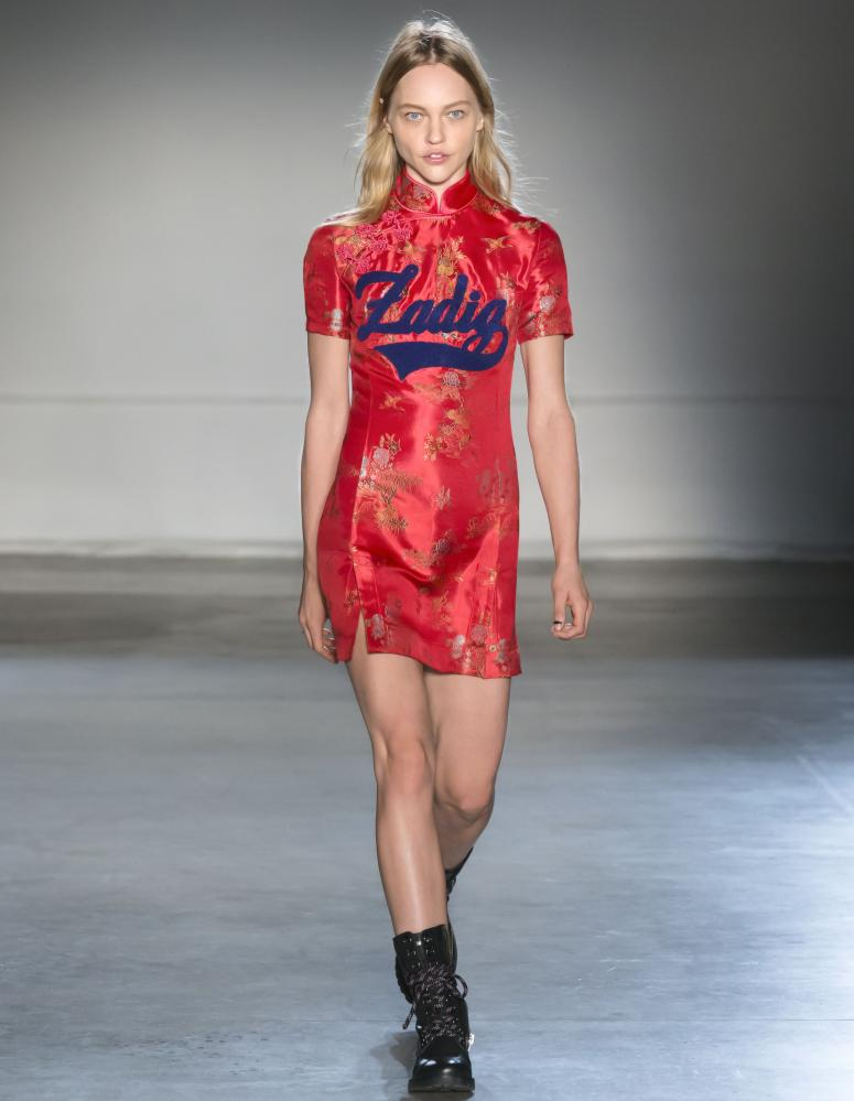 A Cheongsam dress on the Zadig and Voltaire catwalk last season.