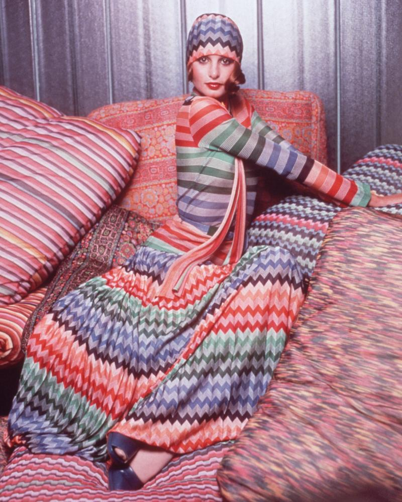 A classic Missoni outfit from the 1970s.