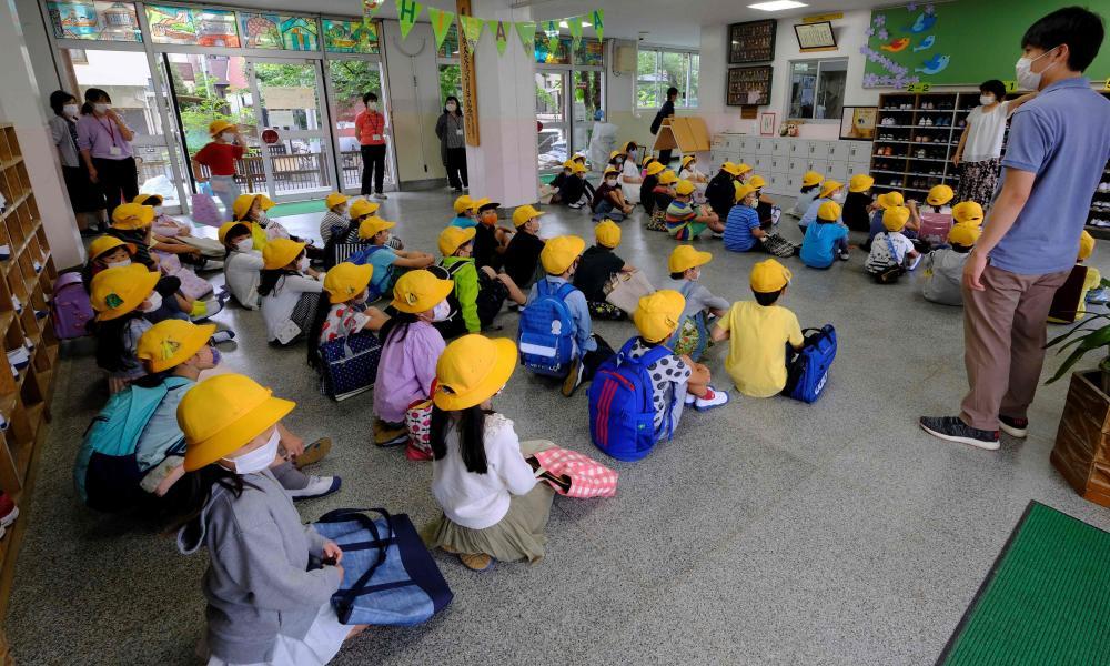 Primary school students in Tokyo