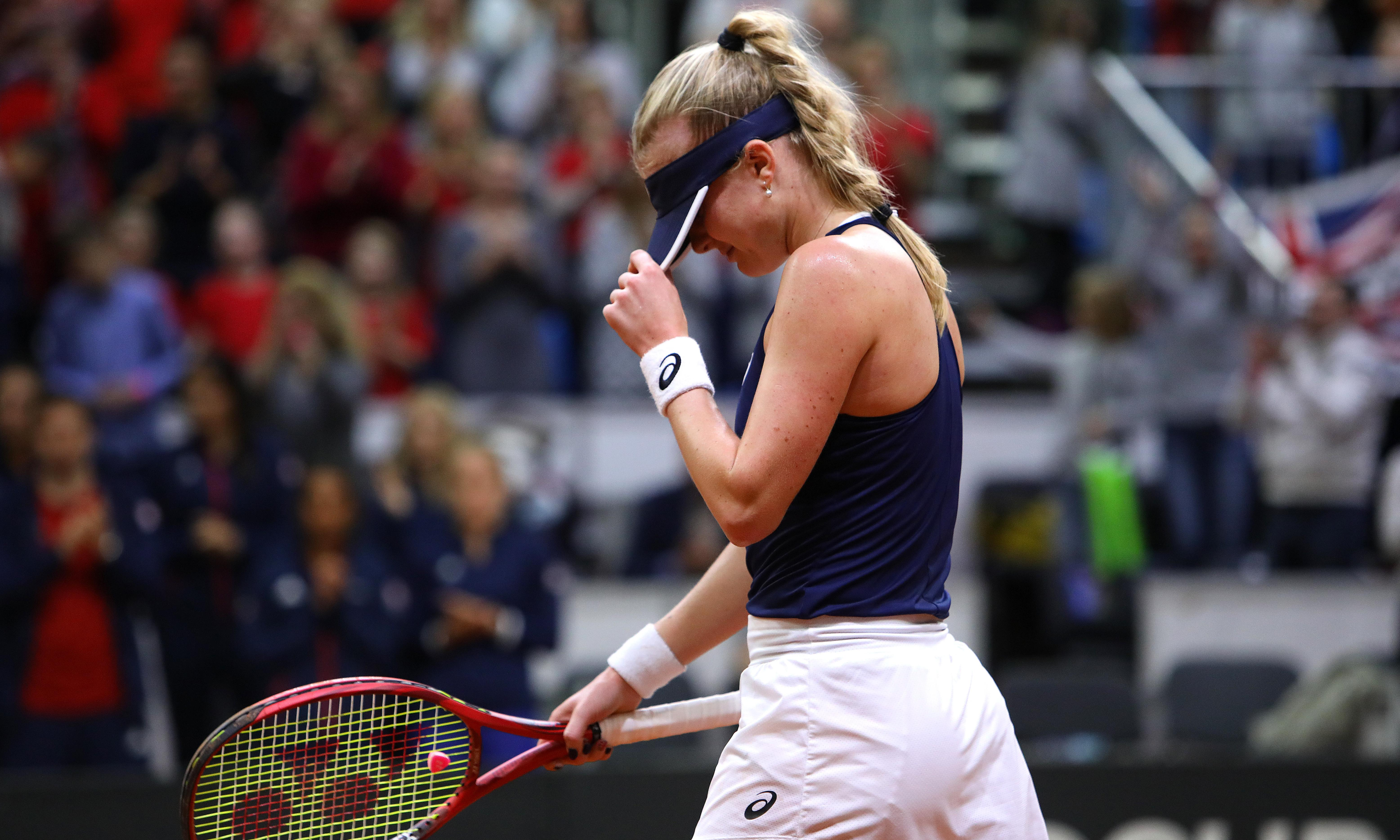Harriet Dart succumbs to Slovaks as GB defeated in Fed Cup qualifier