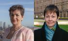 Christiana Figueres (left) and Caroline Lucas MP.