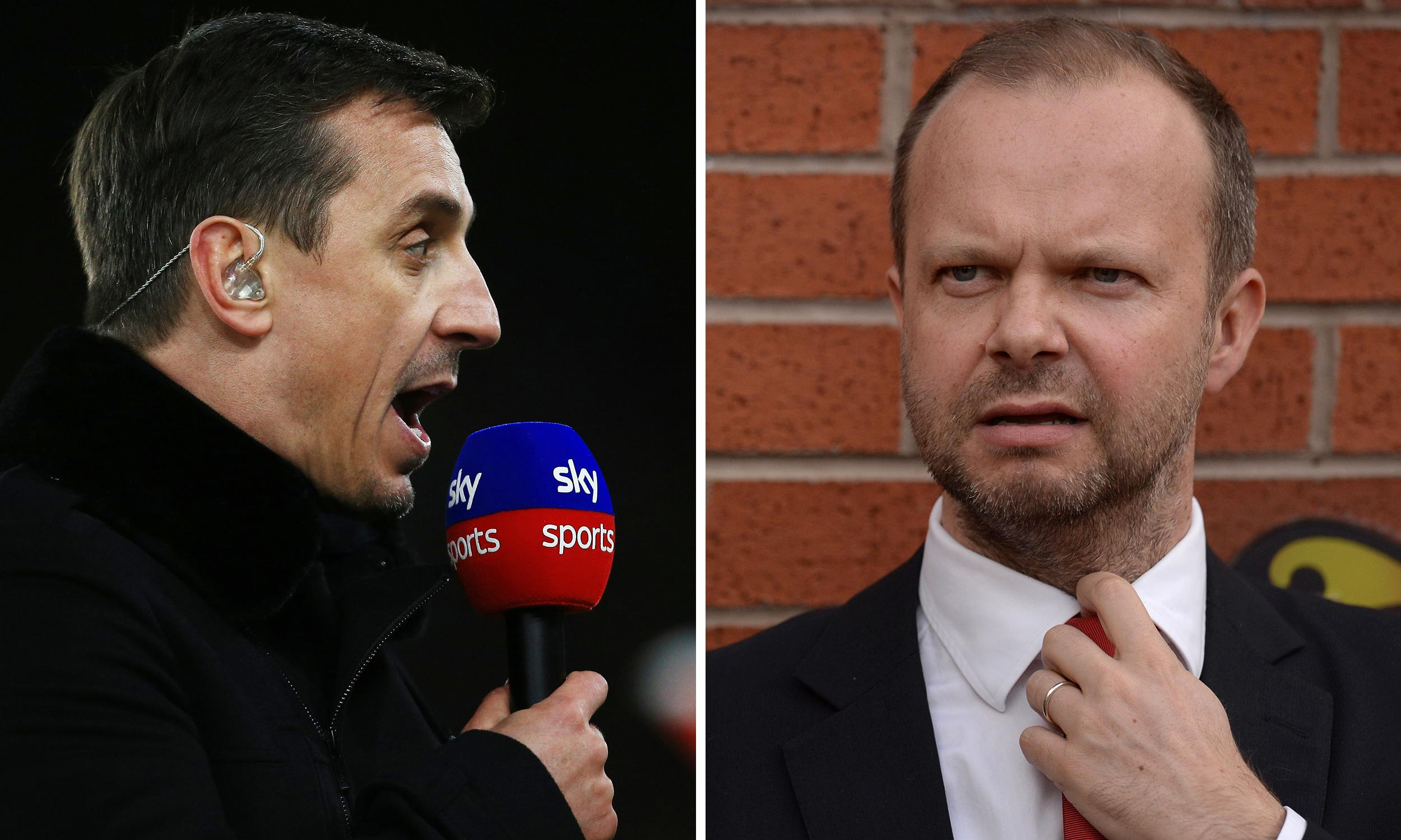Gary Neville rails at Ed Woodward over Manchester United 'mess'