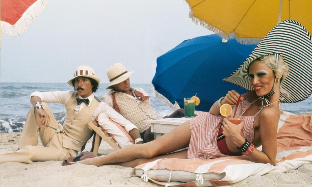 Antonio Lopez, Corey Tippin and Donna Jordan, Saint-Tropez, 1970.