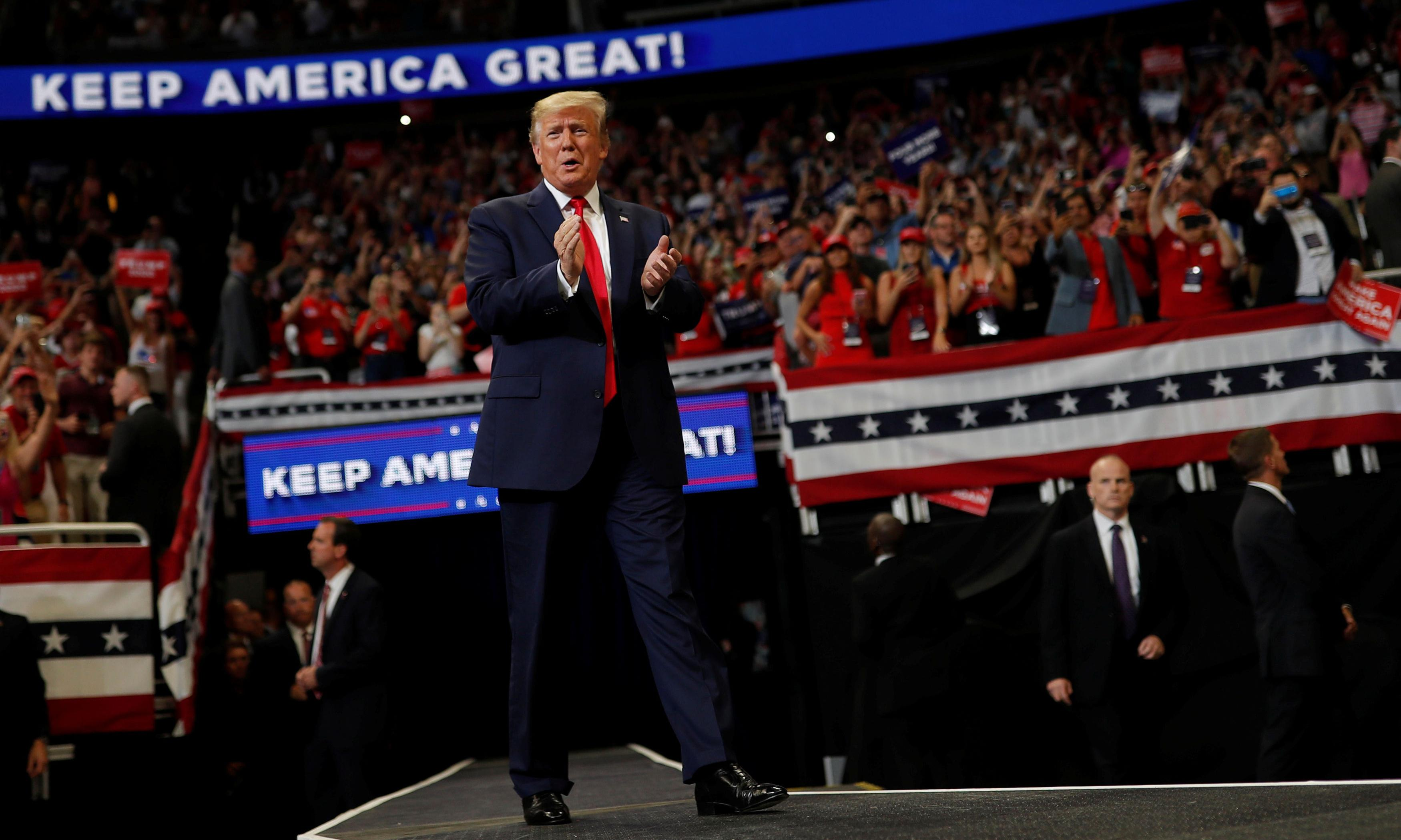 Trump sets stage for 2020 fight with false claims and recycled attacks