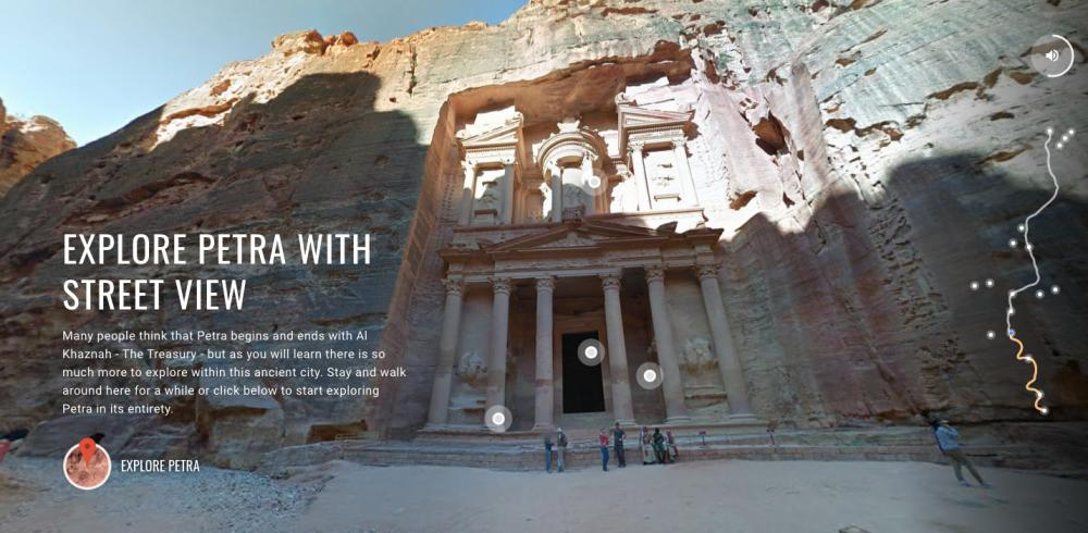 Screen Shot from Google Street View virtual tour of Petra, Jordan