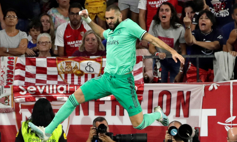 Karim Benzema header sinks Sevilla and eases pressure on Real Madrid