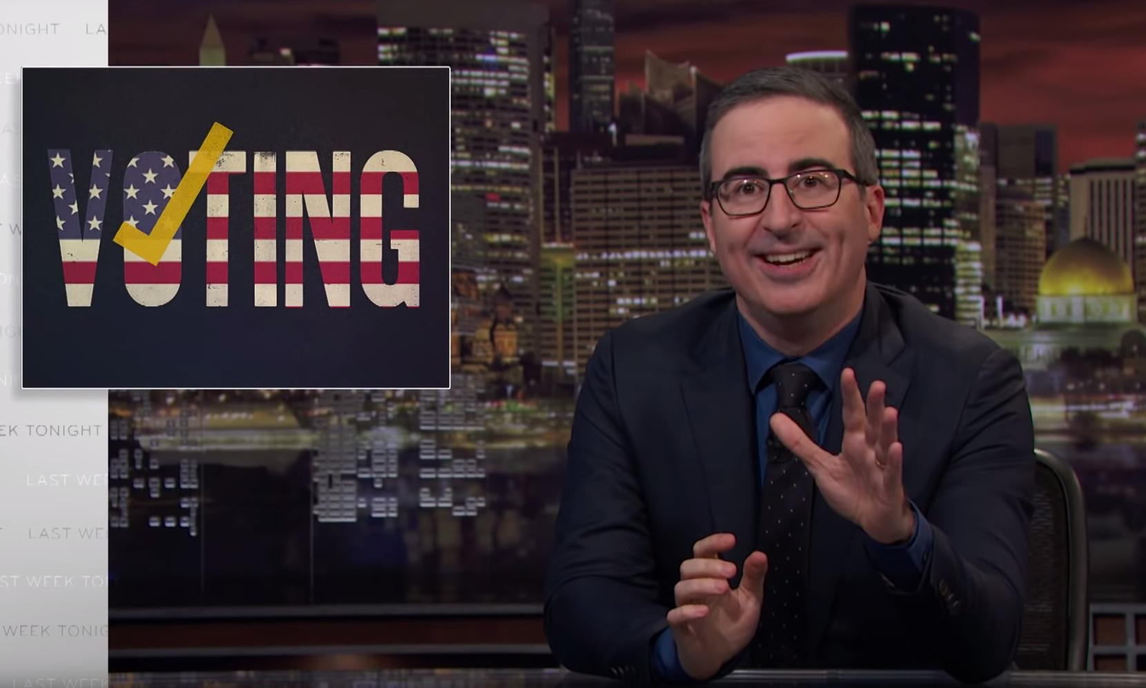 John Oliver on exploitable voting machines: 'We must fix this'