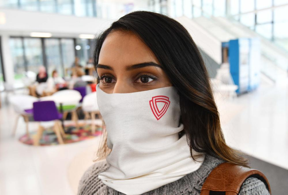 The Virustatic Shield snood.