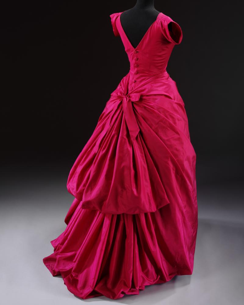 A silk taffeta Balenciaga dress from 1955