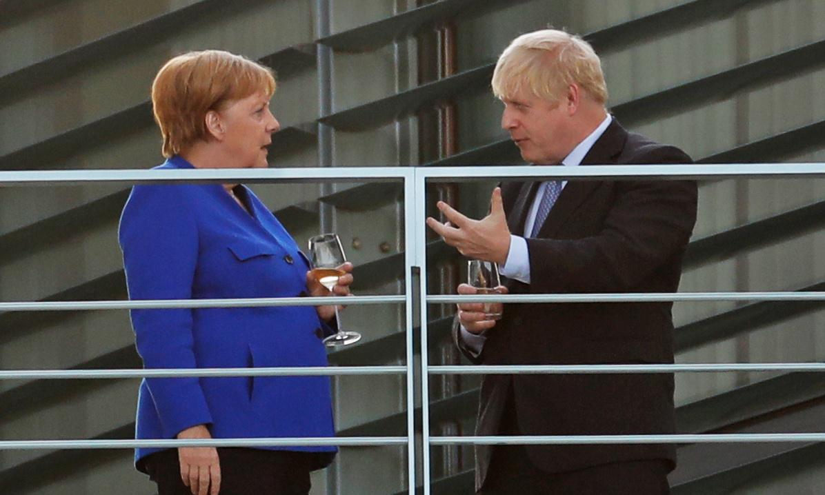 Merkel gives Johnson 30 days to find solution to avoid no-deal Brexit