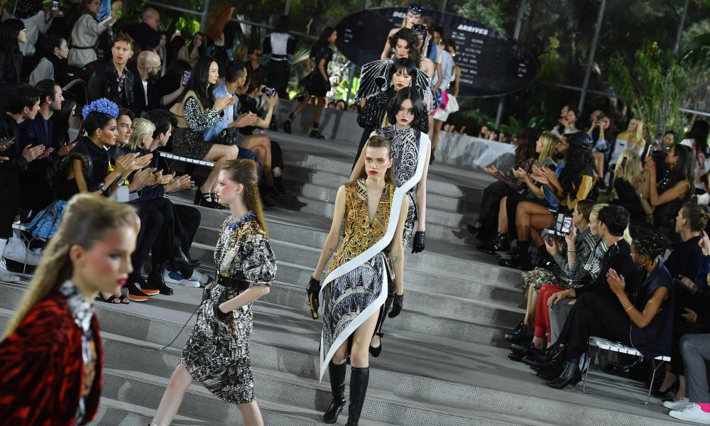 Models walking the catwalk.