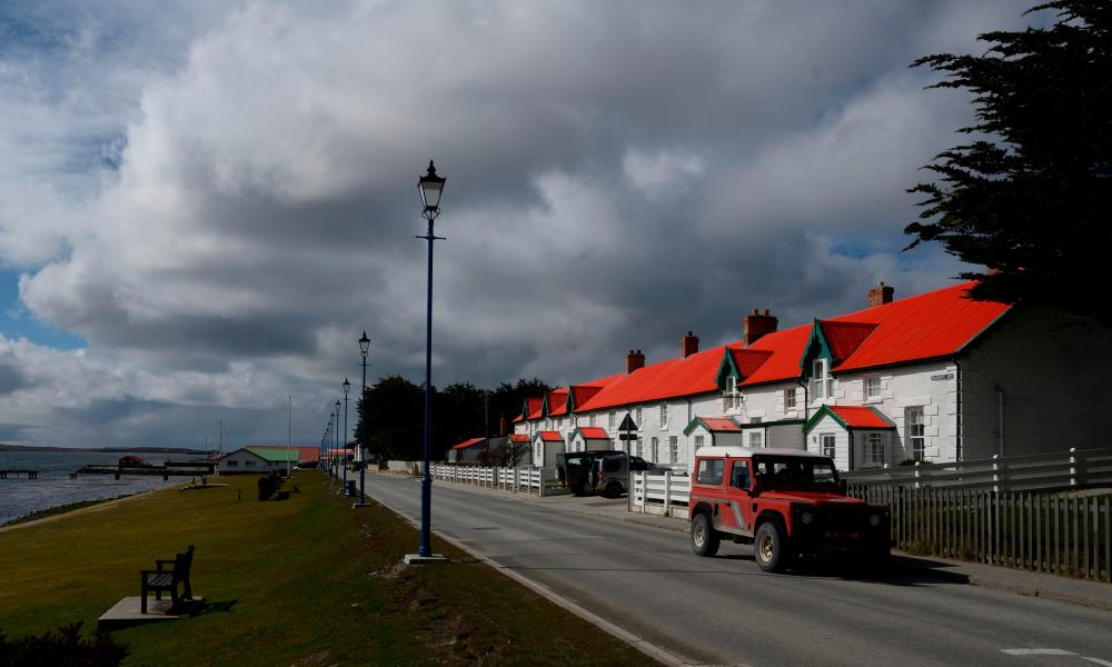 View of Port Stanley on the Falkland Islands in October 2019