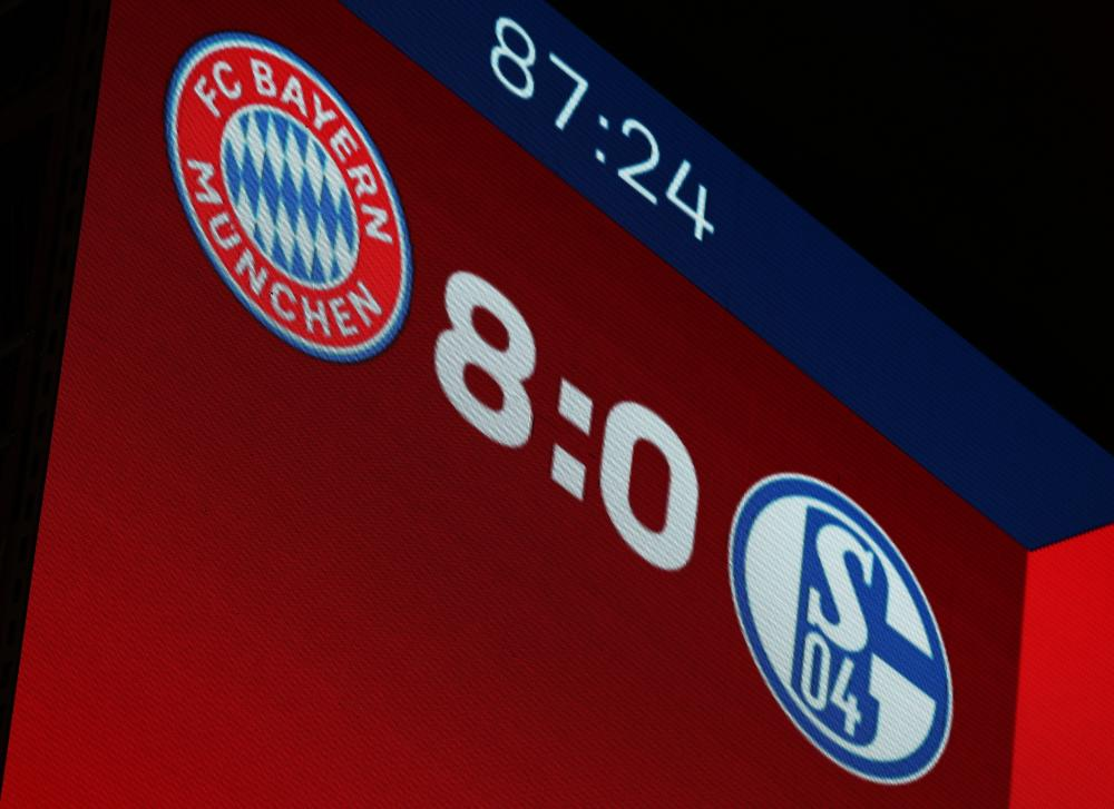 The 8-0 scoreline was not pretty for Schalke, who face Werder Bremen in the prime TV slot next Saturday.