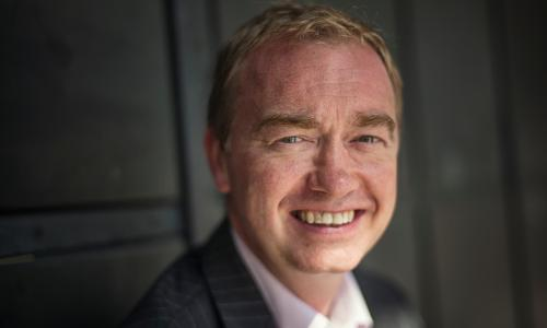 Tim Farron, leader of the Liberal Deomocrats.
