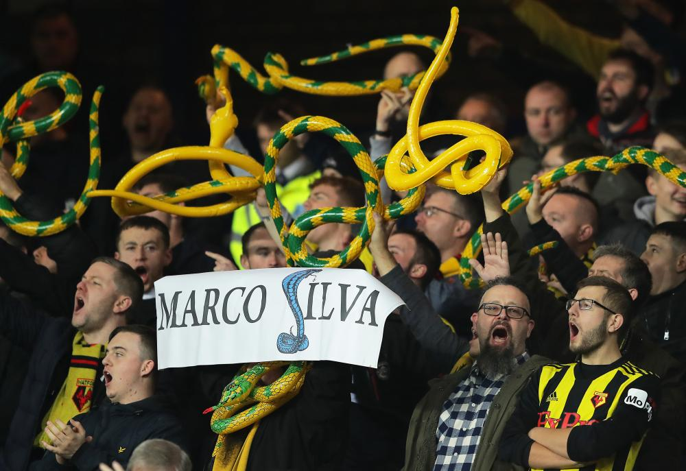 Marco Silva's not particularly popular with Watford fans