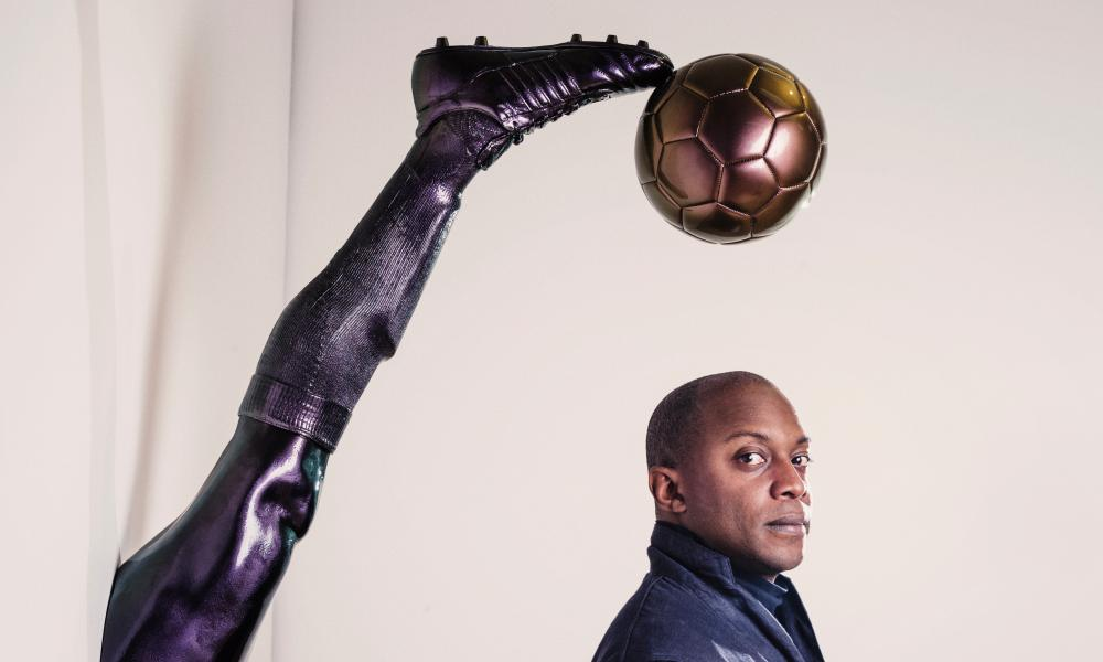 The artist at his new show The Beautiful Game.