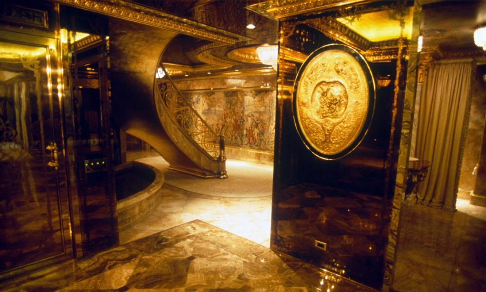 Inside Trump Tower.