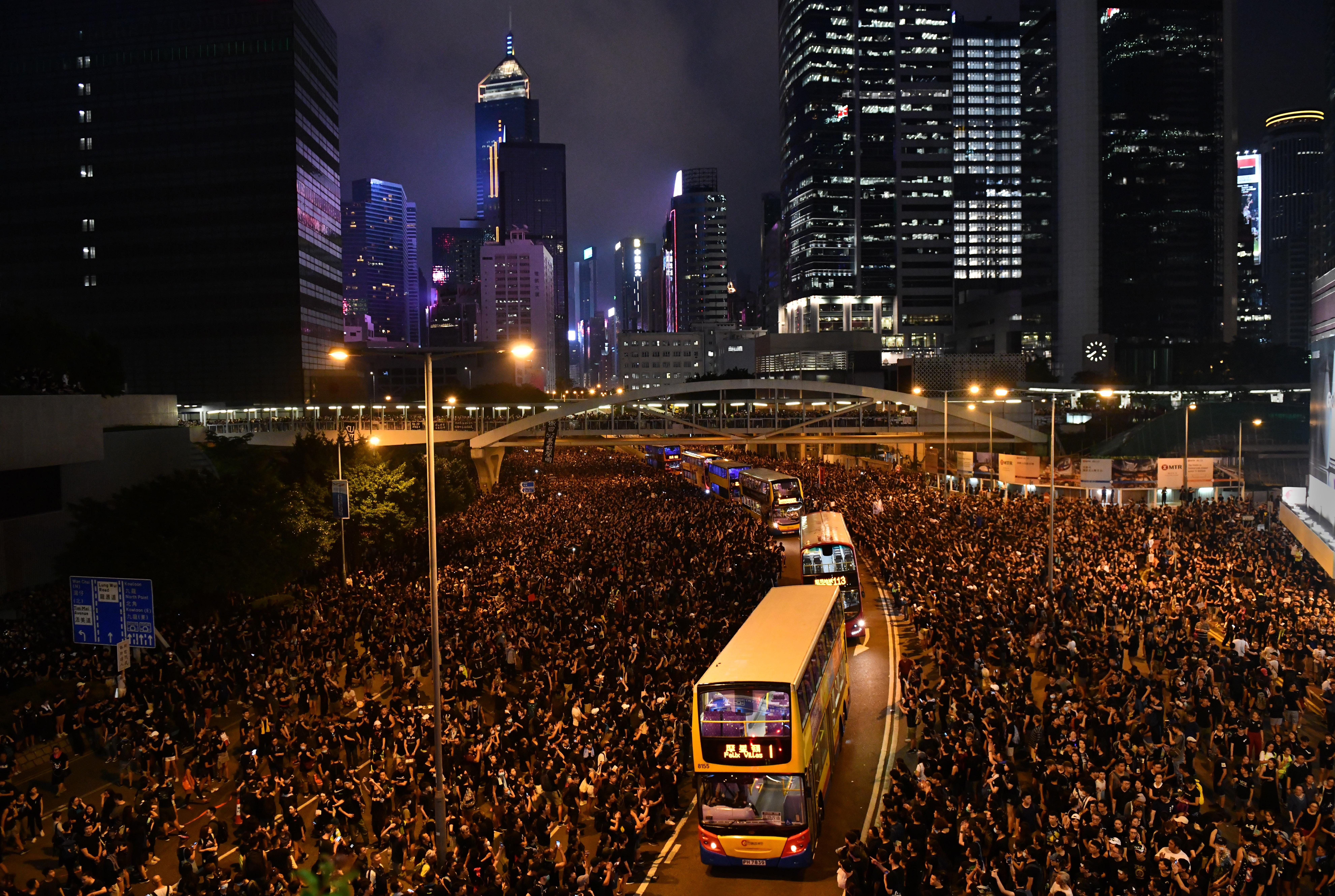 US briefing: Hong Kong protests, 'Trump Heights' and plastic investigation