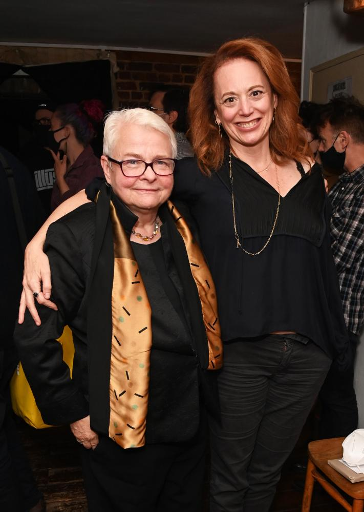 Paula Vogel and Rebecca Taichman at the opening of Indecent at the Menier Chocolate Factory in London.