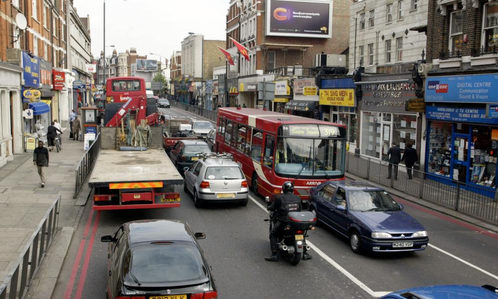 Streatham high road in south London