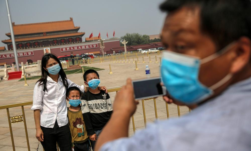 Tourists in Tiananmen square during the Labor Day holiday in Beijing