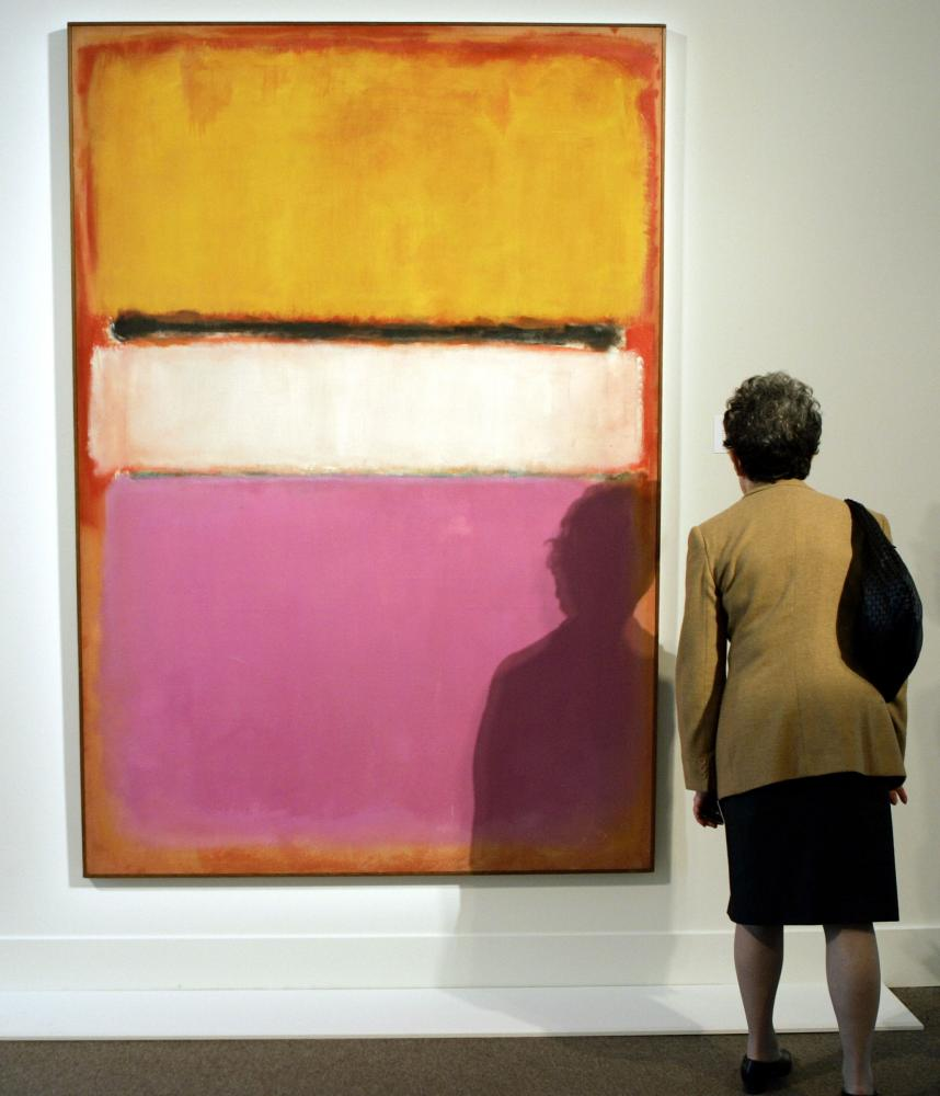 Mark Rothko's 'White Center (Yellow, Pink and Lavender on Rose)'.