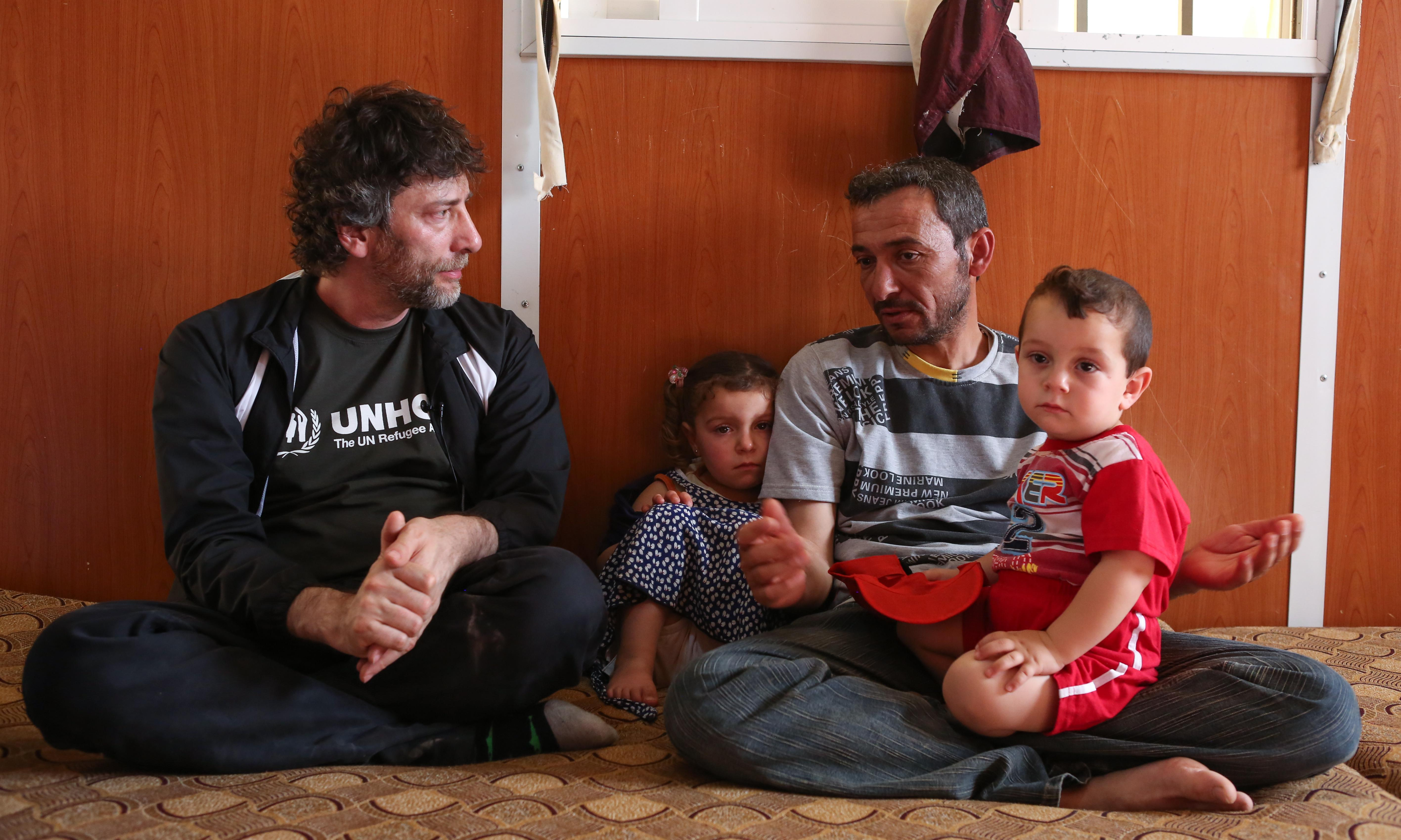 'Ridiculously hard': how Neil Gaiman wrote a poem for refugees from 1,000 tweets