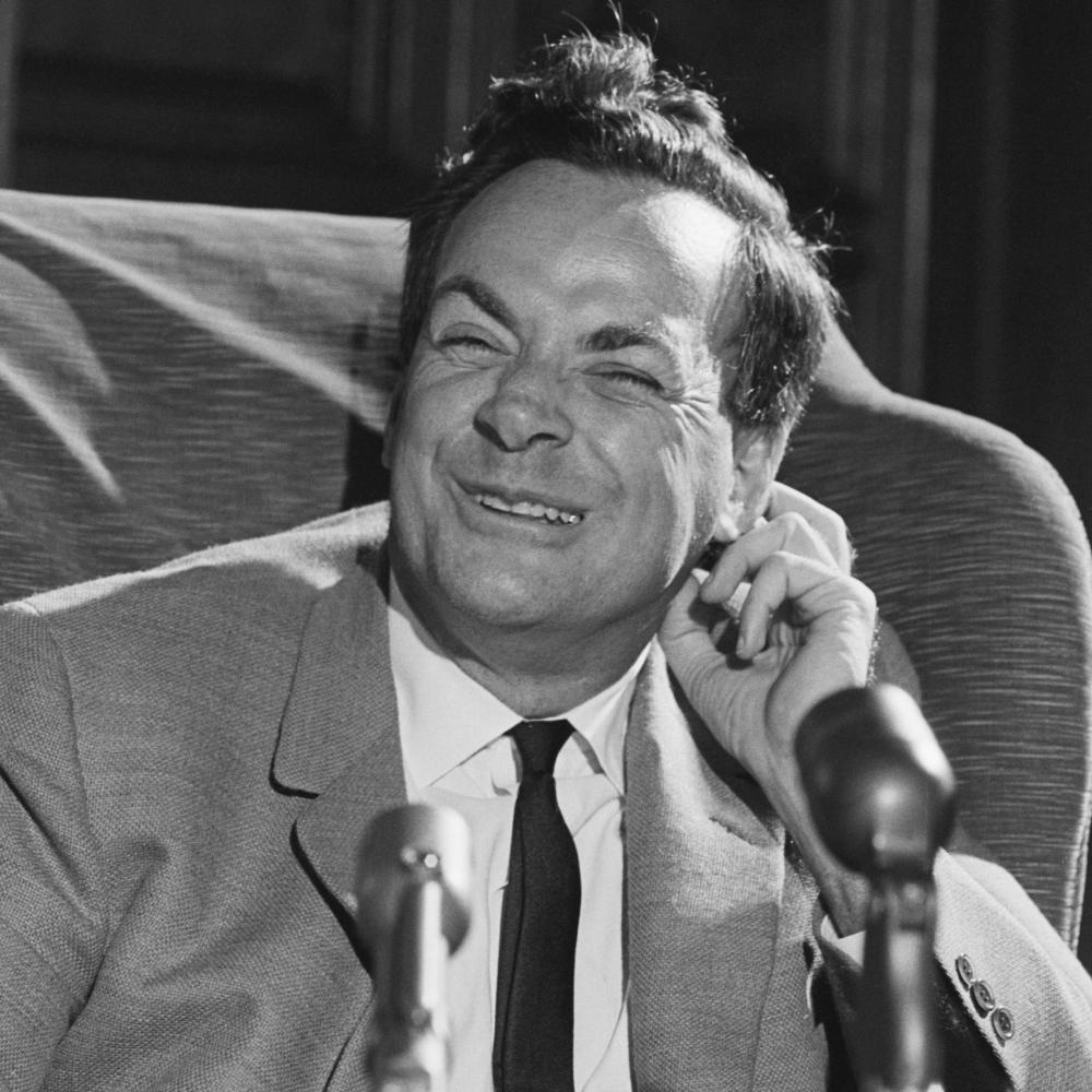 richard feynman  receives word that he is two share the nobel prize for physics in 1965
