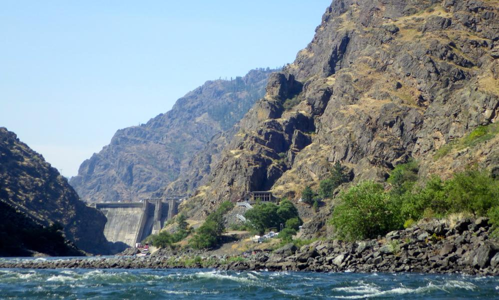 The Hells Canyon dam is one of three hydroelectric dams in Hells Canyon