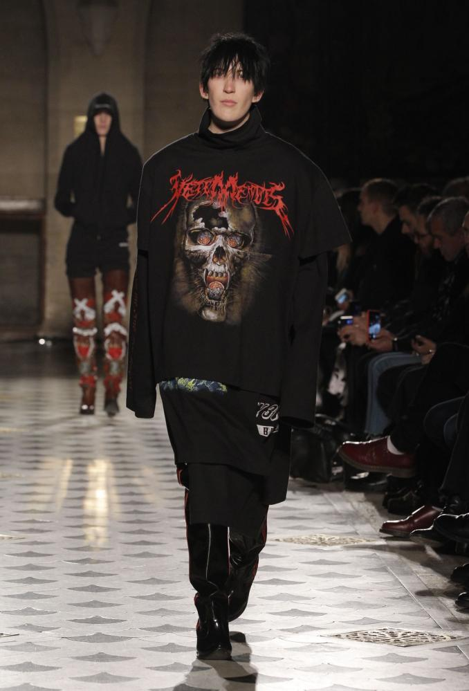 Vetements, Paris fashion week, 2016.
