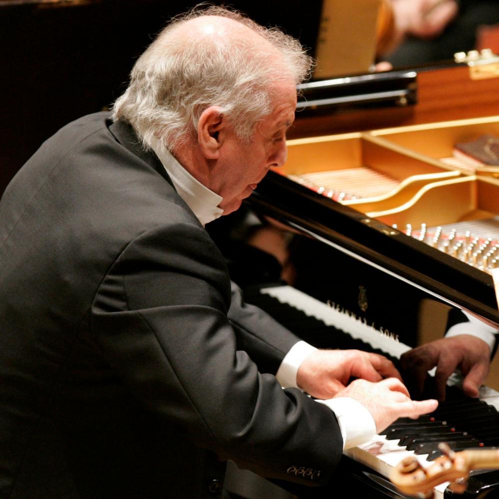 Daniel Barenboim at the piano