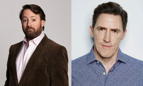 David Mitchell (left) and Rob Brydon