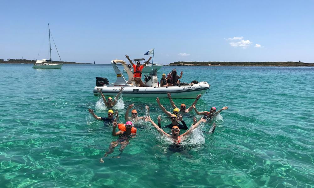 Open water swimming in Mallorca from Swim Trek